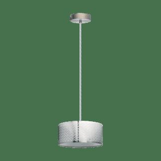 Κρεμαστό φωτιστικό clean coziness, Ø35.5cm μέταλλο σε χρώμα ασημί EGLO LEAMINGTON1 49162