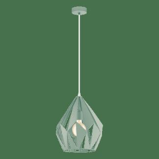 Κρεμαστό φωτιστικό clean coziness, μέταλλο σε χρώμα παστέλ ανοιχτό πράσινο EGLO CARLTON-P 49026