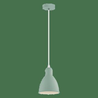 Κρεμαστό φωτιστικό clean coziness μονόφωτο, μέταλλο παστέλ ανοιχτό πράσινο EGLO PRIDDY-P 49094