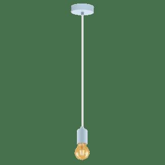 Κρεμαστό φωτιστικό clean coziness μονόφωτο, μέταλλο σε χρώμα παστέλ γαλάζιο EGLO YORTH-P 49018