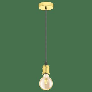 Κρεμαστό φωτιστικό single pendant, μέταλλο, χρώμα ορείχαλκου EGLO YORTH 32538