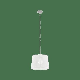 Κρεμαστό φωτιστικό vintage μονόφωτο Ø35cm, λευκό EGLO HAMBLETON 49489