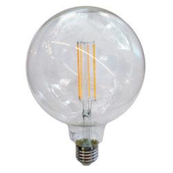 Λάμπα LED E27 G125 Filament 12.5W Λευκό 6400K Διάφανο vtac 7455