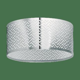 Πλαφονιέρα clean coziness, Ø35.5cm σε χρώμα ασημί EGLO LEAMINGTON1 49161