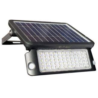 Προβολέας LED ηλιακός 10W Φυσικό λευκό 4000K Μαύρο σώμα με ανιχνευτή vtac 8550
