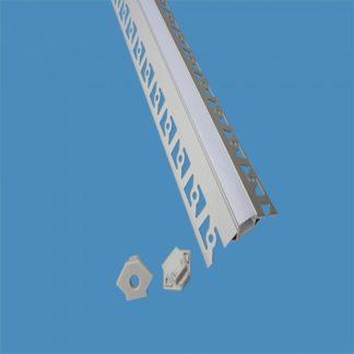 Προφίλ αλουμινίου για ταινίες LED γυψοσανίδας γωνιακό εξωτερικά 2m VTAC 3361Προφίλ αλουμινίου για ταινίες LED γυψοσανίδας γωνιακό εξωτερικά 2m VTAC 3361