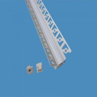 Προφίλ αλουμινίου για ταινίες LED γυψοσανίδας γωνιακό εσωτερικά 2m VTAC 3362