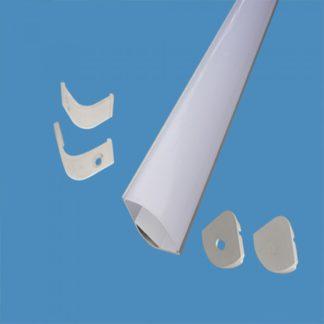 Προφίλ αλουμινίου για ταινίες LED γυψοσανίδας γωνιακό καμπυλωτό 2m VTAC 3363Προφίλ αλουμινίου για ταινίες LED γυψοσανίδας γωνιακό καμπυλωτό 2m VTAC 3363