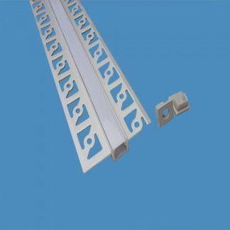 Προφίλ αλουμινίου για ταινίες LED γυψοσανίδας στενό 2m VTAC 3360