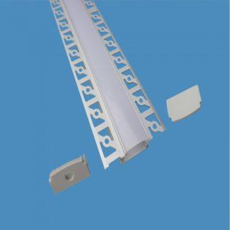 Προφίλ αλουμινίου για ταινίες LED γυψοσανίδας φαρδύ 2m VTAC 3359