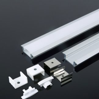 Προφίλ αλουμινίου για ταινίες LED χωνευτό 2000 x 23 x 15.5mm VTAC 3351