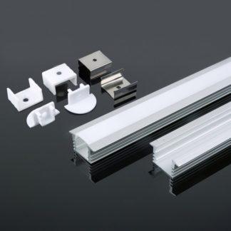 Προφίλ αλουμινίου για ταινίες LED χωνευτό 2000 x 24.5 x 12.2mm vtac 3357