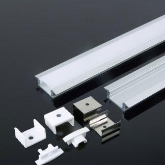 Προφίλ αλουμινίου για ταινίες LED χωνευτό 2000 x 24.7 x 7mm VTAC 3350