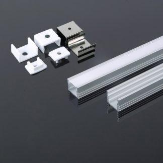 Προφίλ αλουμινίου για ταινίες LED 2000 x 17.4 x 12.1mm vtac 3358Προφίλ αλουμινίου για ταινίες LED 2000 x 17.4 x 12.1mm vtac 3358