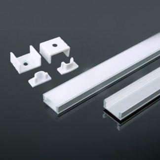 Προφίλ αλουμινίου για ταινίες LED 2000 x 17.4 x 7mm VTAC 3355Προφίλ αλουμινίου για ταινίες LED 2000 x 17.4 x 7mm VTAC 3355