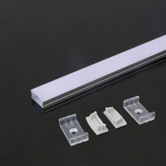 Προφίλ αλουμινίου για ταινίες LED 2000 x 23.5 x 10mm VTAC 3352