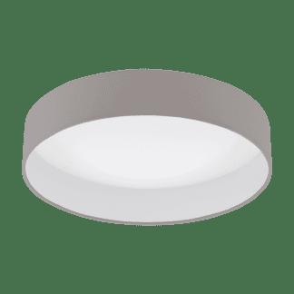 Φωτιστικό Οροφής Led 1x18W, Ø40,5cm Χρώμα Λευκό-Taupe Palomaro 1 96539