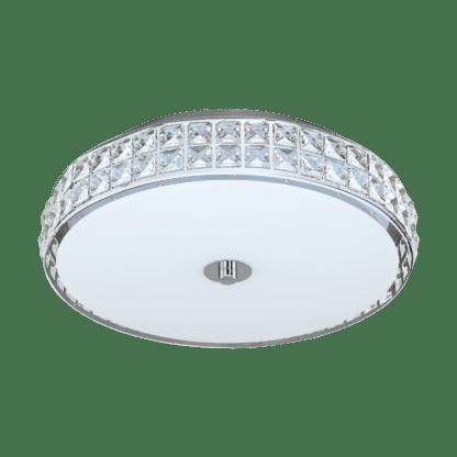 Φωτιστικό Οροφής Led 23,5W, Ø38.5cm Σε Χρώμιο & Λευκό Χρώμα Με Κρύσταλλο Cardillio 96005