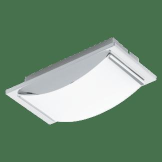 Φωτιστικό τοίχου-οροφής μονόφωτο LED 5.4W από ανοξείδωτο χρωμιομένο ατσάλι & λευκό γυαλί WASAO 94465