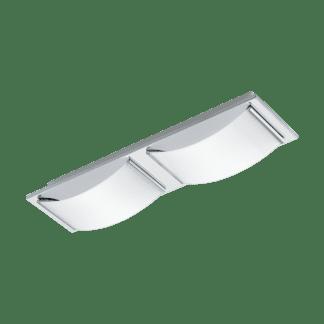 Φωτιστικό τοίχου-οροφής LED 2x5.4W από ανοξείδωτο χρωμιομένο ατσάλι & λευκό γυαλί WASAO 94466