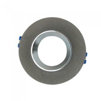 Χωνευτό φωτιστικό Spot GU10 γύψινο στρογγυλό με γκρι & χρώμιο σώμα VTAC 3128