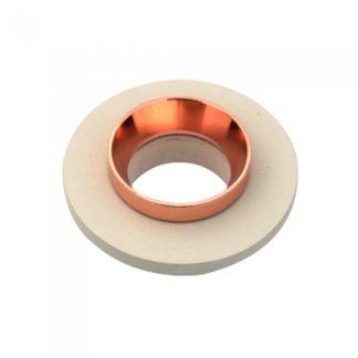 Χωνευτό φωτιστικό Spot GU10 γύψινο στρογγυλό με υπόλευκο & ροζ χαλκός σώμα VTAC 3125
