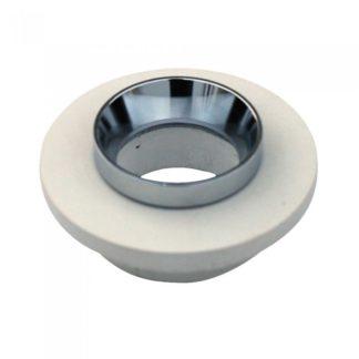 Χωνευτό φωτιστικό Spot GU10 γύψινο στρογγυλό με υπόλευκο & χρώμιο σώμα VTAC 3126