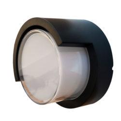 LED αδιάβροχη απλίκα 12W IP65 3000K Θερμό λευκό Μαύρο σώμα στρογγυλή vtac 8537