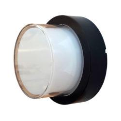 LED αδιάβροχη απλίκα 12W IP65 3000K Θερμό λευκό Μαύρο σώμα στρογγυλή vtac 8541