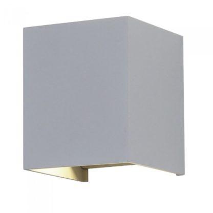 LED επιτοίχιο φωτιστικό 12W Τετράγωνο Γκρι σώμα 3000K Θερμό λευκό Bridgelux chip VTAC 8231
