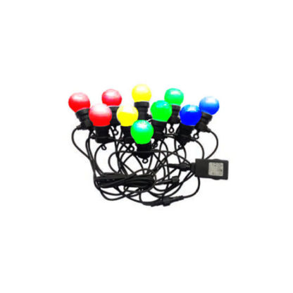 Αδιάβροχο φωτιστικό γιρλάντα 10m με 20 λάμπες RGB+Κίτρινο 24V V-TAC 7438