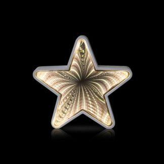 Αστέρι με εφέ Infinity Mirror, μπαταρίας, LED θερμό φως (27-00510)