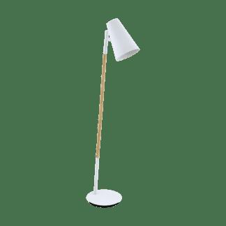 Επιδαπέδιο φωτιστικό Ε27 μονόφωτο μεταλλικό χρώμα καφέ με λευκό ARASI 98028