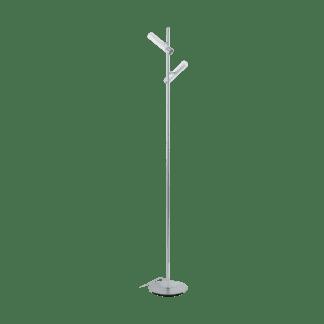 Επιδαπέδιο φωτιστικό δίφωτο 2x5W θερμό λευκό φως 3000Κ, μεταλλικό χρώμιο με λευκό EFFUGI 96874