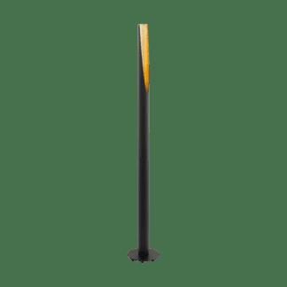 Επιδαπέδιο φωτιστικό GU10 5W θερμό λευκό φως 3000Κ, μεταλλικό μαύρο με χρυσό BARBOTTO 97584