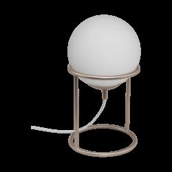 Επιτραπέζιο φωτιστικό E14 1Χ28W, ύψος 28cm, βάση σαμπανιζέ μέταλλο & γυαλί σφαίρα οπάλ ματ CASTELLATO1 97332