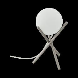 Επιτραπέζιο φωτιστικό E14 1Χ28W, ύψος 33cm, βάση σαμπανιζέ μέταλλο & σφαιρικό οπάλ γυαλί CASTELLATO 97334