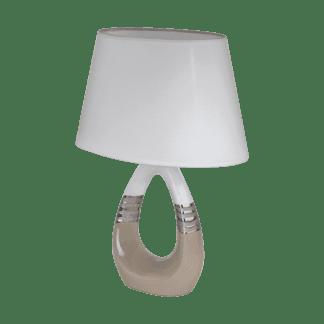 Επιτραπέζιο φωτιστικό E14 1Χ40W, κεραμικό με λευκό καπέλο BELLARIVA1 97775