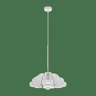 Κρεμαστό φωτιστικό Ø49cm ξύλινο σε λευκό χρώμα CHIETI 97701