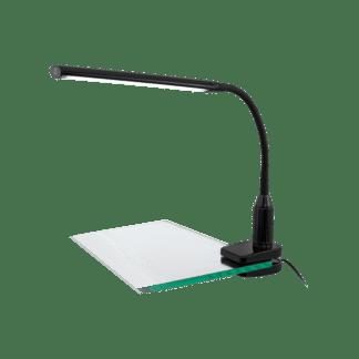 Φωτιστικό Γραφείου Με Μανταλάκι LED 4,5W Με Dimmer Αφής Σε Μαύρο Χρώμα Laroa 96437
