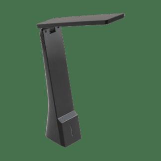 Φωτιστικό Γραφείου LED 1.8W, 3000K-5000K θερμό λευκό φως, Επαναφορτιζόμενο, με Dimmer Αφής, Μαύρο LA SECA 97045