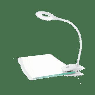 Φωτιστικό με clip(μανταλάκι) LED 3W, θερμό λευκό φως 3000Κ, πλαστικό λευκό με διακόπτη αφής CABADO 97077
