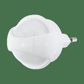 Φωτιστικό πρίζας LED 0.26W, θερμό λευκό φως 3000Κ, πλαστικό λευκό με αισθητήρα κίνησης TINEO 97933