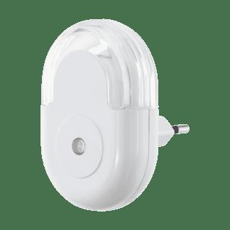 Φωτιστικό πρίζας LED 0.3W, θερμό λευκό φως 3000Κ, πλαστικό λευκό με αισθητήρα κίνησης TINEO 97935