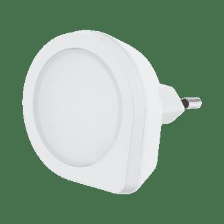 Φωτιστικό πρίζας LED 0.4W, θερμό λευκό φως 3000Κ, Ø55mm, πλαστικό λευκό με αισθητήρα κίνησης TINEO 97932