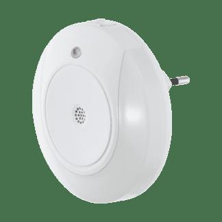 Φωτιστικό πρίζας LED 2x0.4W, θερμό λευκό φως 3000Κ, πλαστικό λευκό με αισθητήρα κίνησης TINEO 97934
