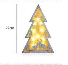 Διακοσμητικό δέντρο με ελαφάκια, μπαταρίας, LED θερμό φως (27-00511)