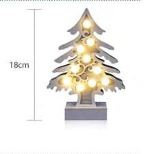 Διακοσμητικό δέντρο με στολίδια λαμπάκια, μπαταρίας, LED θερμό φως (27-00513)