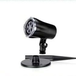 Laser Projector IP44 χρώμα φωτός RGBW, 4W, 12V με σχέδιο χρωματιστές νυφάδες (27-00900)