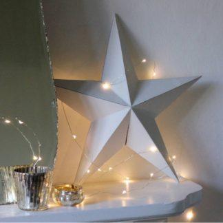Φωτάκια σε ασημί σύρμα 50 LED 5m με Μπαταρία Ψυχρό Λευκό Φως (90-05-POL142)
